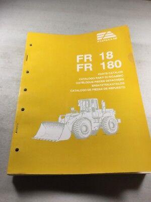 Fiat Allis Fr18 Fr180 Wheel Loader Parts Catalog