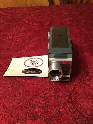 Vintage Kodak Automatic 8 Movie Camera & Used Film Inside - Clean / Works Great