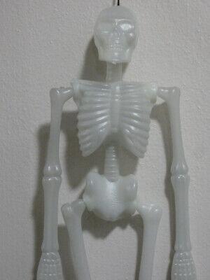 "Vintage Halloween Blow Mold Hanging Skeleton 15"""