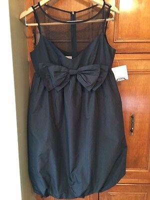 NWT DONNA MORGAN Illusion Neckline Bubble Dress Black Size 6