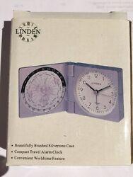 LINDEN ASHFORD WORLD TIME TRAVEL ALARM CLOCK RBL-707 New In Box