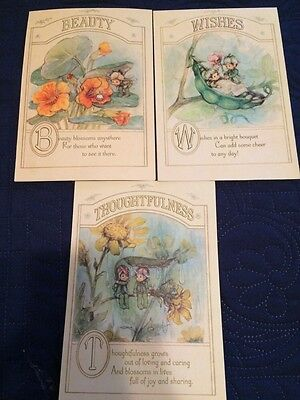 Vintage Hallmark Charmers Cards Unused Lot 1970s With Envelopes