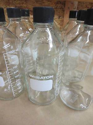 Lot Of 2 Wheaton 1000ml Media Bottle With Screw Cap