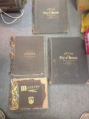 Antique Map Boston Massachusetts Dorchester Roxbury Atlas Street Map Lot Plus