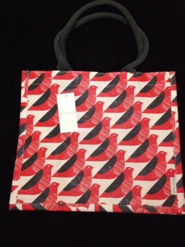 bdb63179bc 5053947084003. Orla Kiely Red Bird Tote Bag Jute Gift White ...