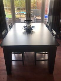 Solid slate Pool/dining table