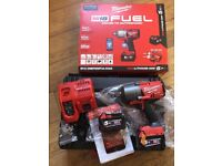 Milwaukee 18v 2x5.0Ah Li-ion Fuel 3/4in Friction Ring Impact Wrench Kit M18ONEFHIWF34-502X( MAKITA for sale  Leytonstone, London