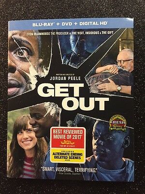 Get Out  Blu Ray Dvd Digital Hd  2017  2 Disc Set  New W  Slipcover