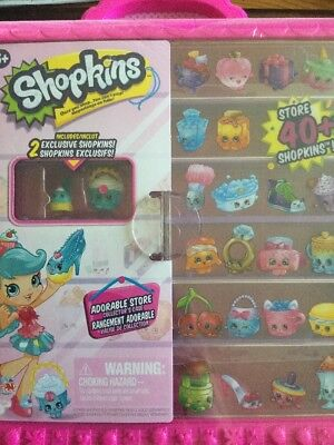 Shopkins Adorable Store Collectors Case With 2 Exclusive Shopkins Free Shipping