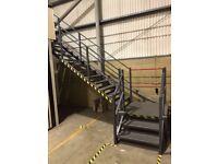 MEZZANINE FLOOR 12.5M X 12M x 3.5M HIGH! WITH STAIRS ( STORAGE , PALLET RACKING )