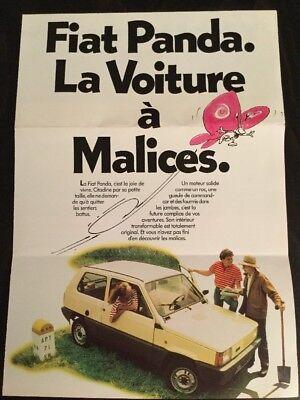Fiat Panda Brochure - c1980 In French