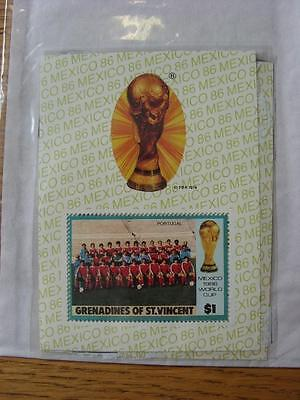 1986 World Cup Stamp Sheet: Portugal Team (Grenadines Of St Vincent)