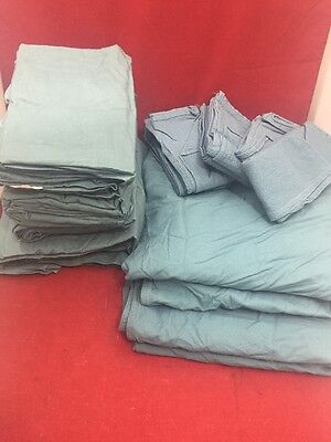 Surgical Linen Foil Pack No. 54 6 Towels 4 Bed Sheets 2 Drapes Military Green