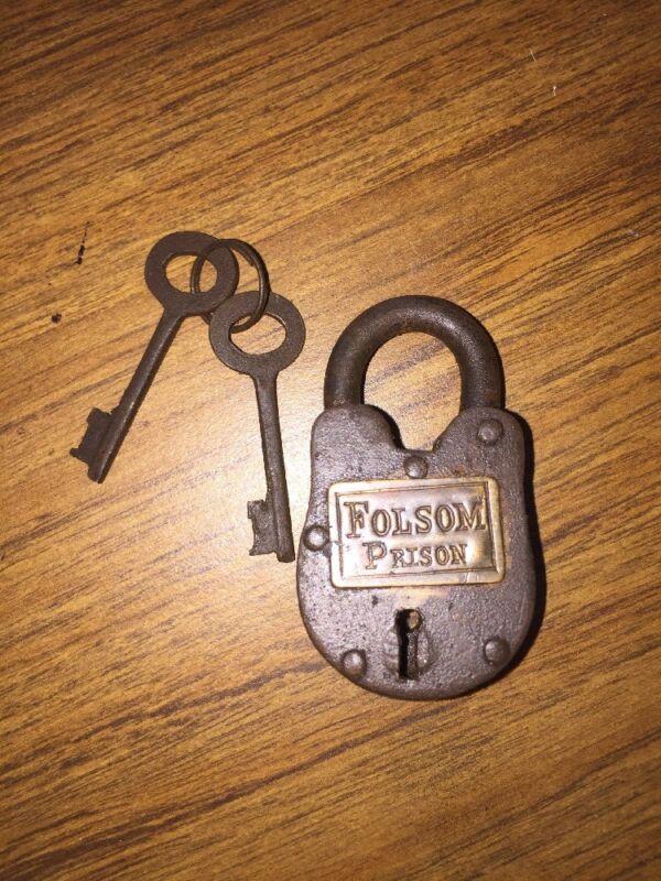 Padlock Key Set Brass Lock Lot Johnny Cash Folsom Prison Jail Penitentiary GIFT