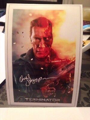 Arnold Schwarzenegger Signed Printed Photo 6x4