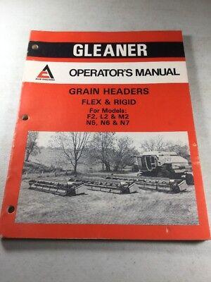Allis Chalmers Grain Headers For Models F2 L2 M2 N5 N6 N7 Operators Manual