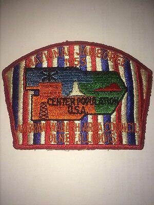 1953 National Scout Jamboree Ambraw Wabash Jsp Contingent Patch Il Lodge 167 Oa