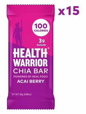 Health Warrior Chia Bars, Acai Berry, 15 -