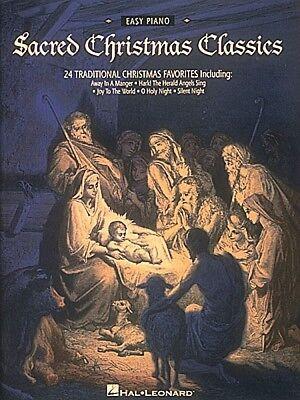 Sacred Christmas Classics Sheet Music Easy Piano Songbook NEW 000222576
