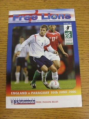 10/06/2006 World Cup: England v Paraguay [In Frankfurt] [Free Lions Fanzine Edit
