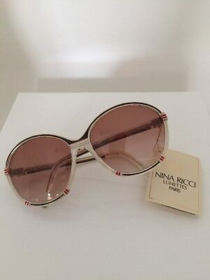 b5bcb2fa670 New Vintage Nina Ricci 1400 Gold Red   White Made In France With Tags  Sunglasses