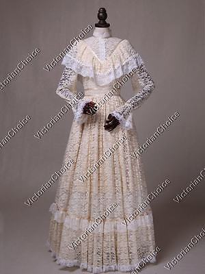 Victorian Edwardian Vintage Wedding Dress Gown Ghost Bride Downton Abbey 392