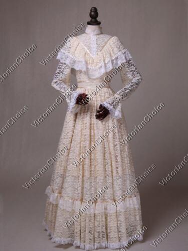 Victorian Edwardian Vintage Wedding Dress Ghost Bride Halloween Costume 392