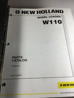 New Holland W110 W130 Wheel Loader Parts Catalog Manual