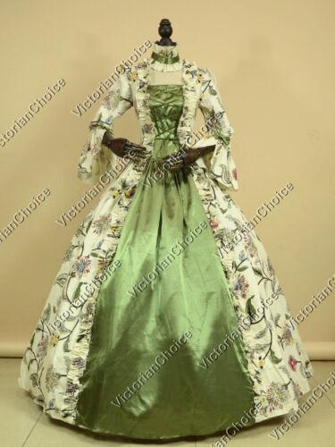 Renaissance Colonial Princess Tea Garden Party Ball Gown Prom Dress Theater 138
