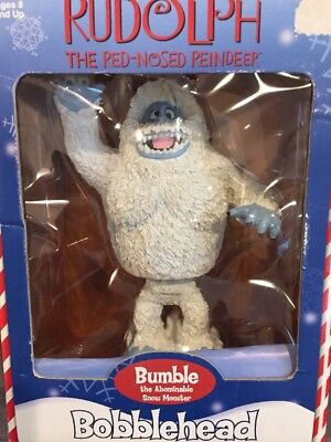 Rare 2002 Rudolph Red Nosed Reindeer Bumble Bobblehead Figurine Toysite