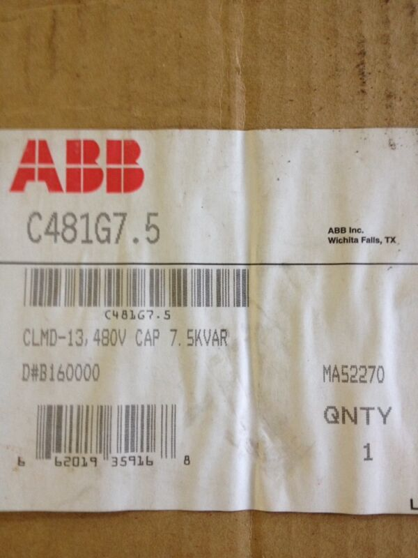 ABB CAPACITOR Model CLMD-13 480 Volts 3 PHASE