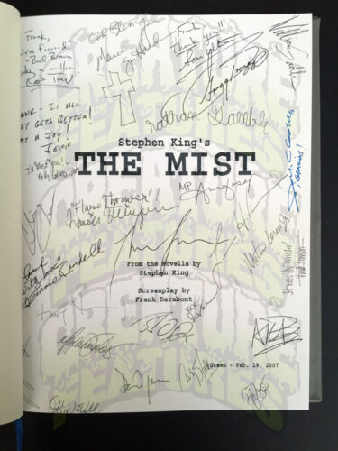 THE MIST Crew Gift HC Leatherbound Script Book AUTOGRAPHED FULL CAST SIGNED x28!