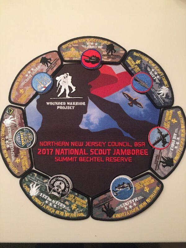 Mint 2017 National Jamboree 8 Piece JSP Northern New Jersey Wounded Warrior Set