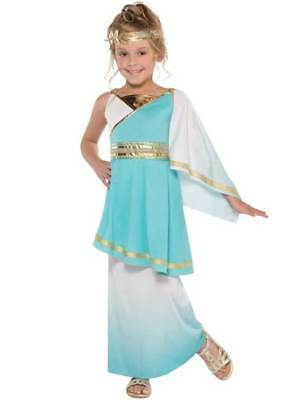 Girls Venus Goddess Costume Teen Roman Toga Greek Child Fancy Dress Kids Outfit