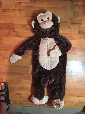 12 Month Boy Halloween Costumes (Plush Monkey Boys Sz. 12 Months Halloween)