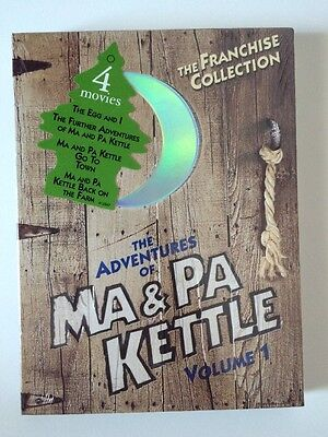 The Adventures of Ma & Pa Kettle Volume 1  4 MOVIES  BRAND NEW Go to Town ,