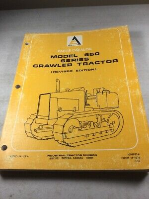 Allis Chalmers 650 Series Crawler Parts Catalog Manual