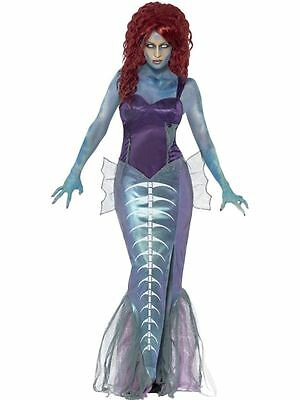 Zombie-Meerjungfrau-Kostüm, EU 36-38, Halloween Zombie Alley Kostüm #DE