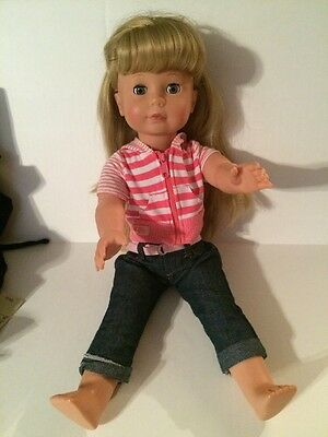 Pottery Barn Kids Gotz Doll Blue Eyes Long Blond Hair. Mint Condition