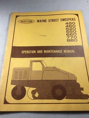 Wayne Street Sweepers 450 460 520 550 660 770 880 Operation Maintenance Manual