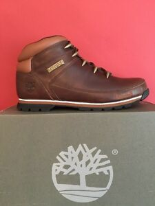 TIMBERLANDS MENS EURO SPRINT Hiker BOOTS BROWN size Uk 9 BRAND NEW WITH BOX