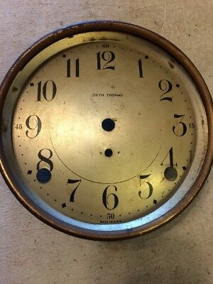 SETH THOMAS CATHEDRAL ARCH MANTLE CLOCK DIAL & BEZEL FROM 89 MOVEMENT