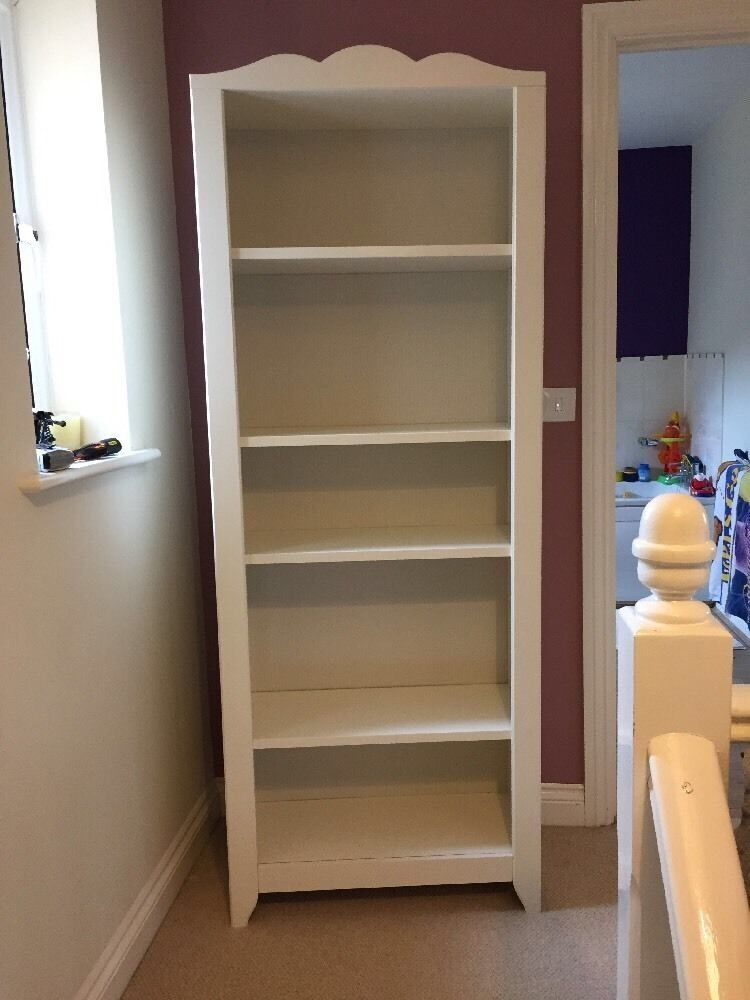 Ikea white hensvik bookcase with 5 x shelves great for Great storage