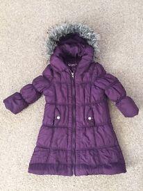Girls winter coat aged 2-3