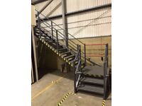MEZZANINE FLOOR 10M X 9M WITH STAIRS DISMANTLED READY TO GO. REDUCED!!( STORAGE , PALLET RACKING )