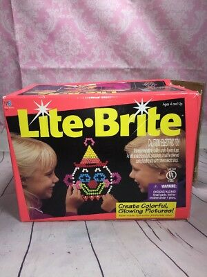 Vintage Milton Bradley Lite Brite Light Bright Pegs Electric Toy 1993 1994 Rare
