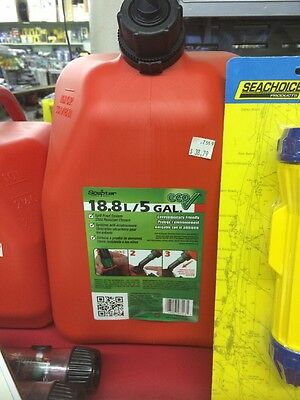Scepter 05096 5 Gallon Eco Gas Can   Label On Front May Vary