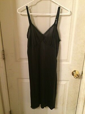 Stylin' Vintage Camelot Apparel Inc Full Slip Black Size 36 Average #1510