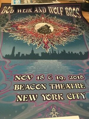 Bob Weir And Wolf Bros Beacon Theater NYC Poster Nov 18 & 19 2018