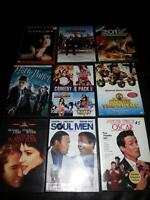 40 dvd movies (1 blue ray) 3 brand new & rest watched once